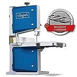 Scheppach HBS30 Bandsäge Holzbandsäge Holzsäge Tischsäge Säge inkl. 3 Sägebänder   230 Volt   350 Watt   max. Durchlasshöhe: 80 mm   max. Durchlassbreite: 200 mm