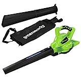 Greenworks Tools GD40BV Laubsauger und-Laubbläser 2in1 ohne Akku und Ladegerät, 40 V, Grün, Schwarz, Grau, 40V