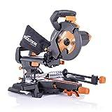 Evolution Power Tools - R210SMS+ Mehrzweck-Gleit-Gehrungssäge mit Plus Pack, 210 mm (230 V)