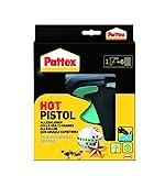 Pattex Hot Pistol Heißklebepistole / Klebepistole mit mechanischem Vorschub und hitzeisolierter Düse / Set mit Pattex Heißklebepistole + 6 Klebesticks, Ø 11 mm