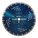 WERKMAX Premium Diamantscheibe STARMAX | Ø 350 mm x 25,4 mm | Turbosegmente 12mm - Beton Granit Klinker Trennscheibe