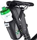 ROCKBROS Satteltasche Fahrrad Sattel Tasche mit Flaschenhalter Wasserdicht Kratzfest Reflektierend Fahrradtasche