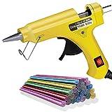 20W Heißklebepistole,SunAurora Klebepistole mit 30 Stück Farbblitz Heißklebesticks für DIY, Kunst & Handwerk und alltägliche Reparaturen(Gelb)