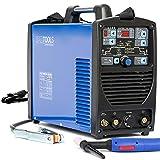 IPOTOOLS SUPERTIG 200DI WIG Schweißgerät AC DC Schweissgerät mit 200 Amper Volldigitales Inverterschweißgerät Inkl HF-Zündung, Pulsfunktion, MMA, IGBT