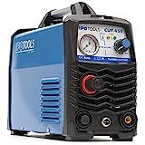 IPOTOOLS Plasmaschneider CUT-45R - Plasmaschneidgerät 45A bis 12 mm Schneidleistung Inverter Schweißgerät Plasma Cutter mit IGBT/HF Zündung/Blau / 230V