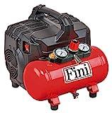 FINI SILTEK S/6 leiser Kompressor 2 Manometer (59 Db), 6L, 1.0 HP, 8 bar, 750 W, 230 V, Rot