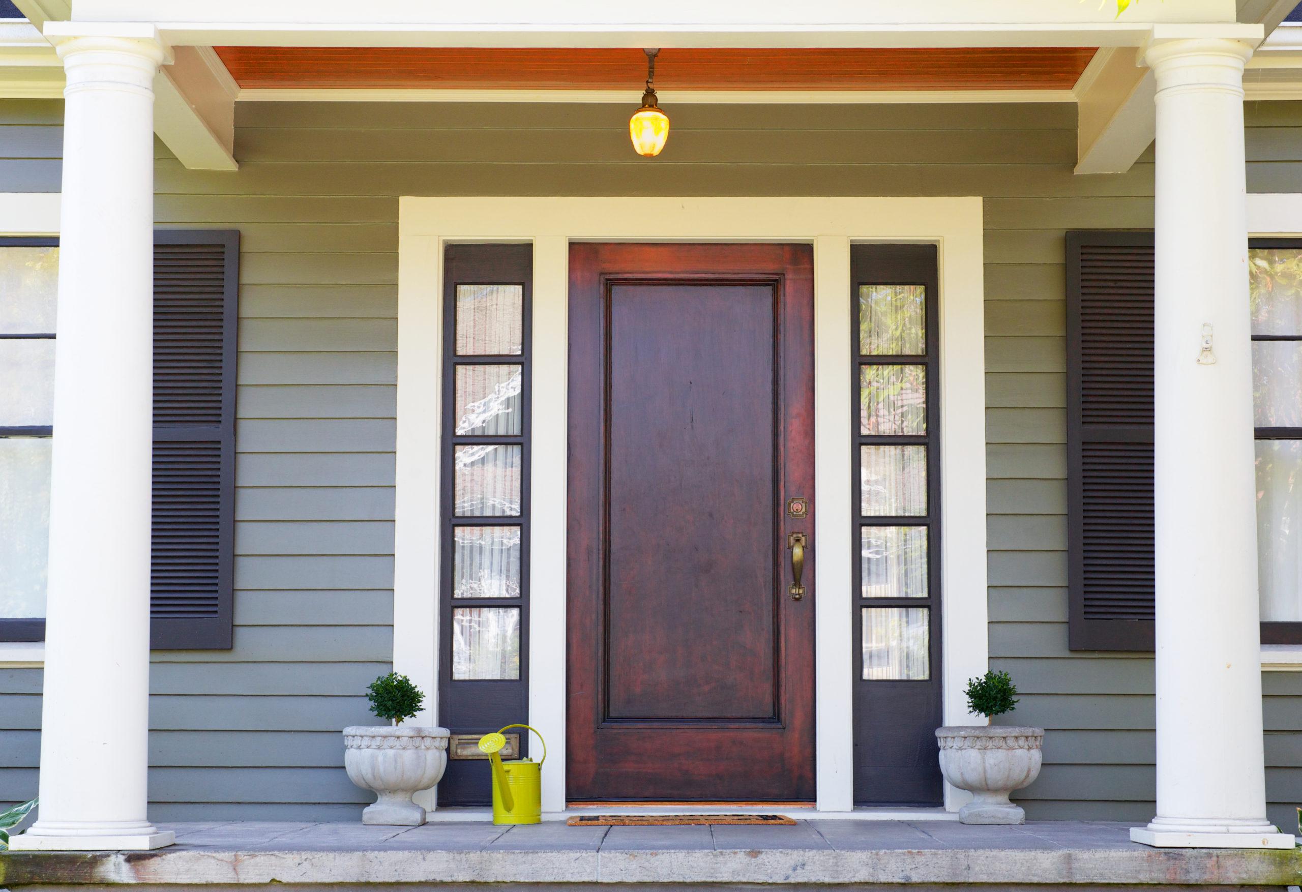 Einbau einer Haustür